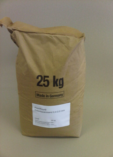 Colour quartz sand 0.4-2.0 mm/25 kg